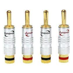 Dynavox aranyozott banándugó szett egyenes / 4db szett
